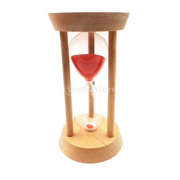 全3種 砂時計 ホーム/オフィス 装飾 美しい 装飾品 マスク ゲーム 読書 勉強 時間管理 道具 - 20分赤
