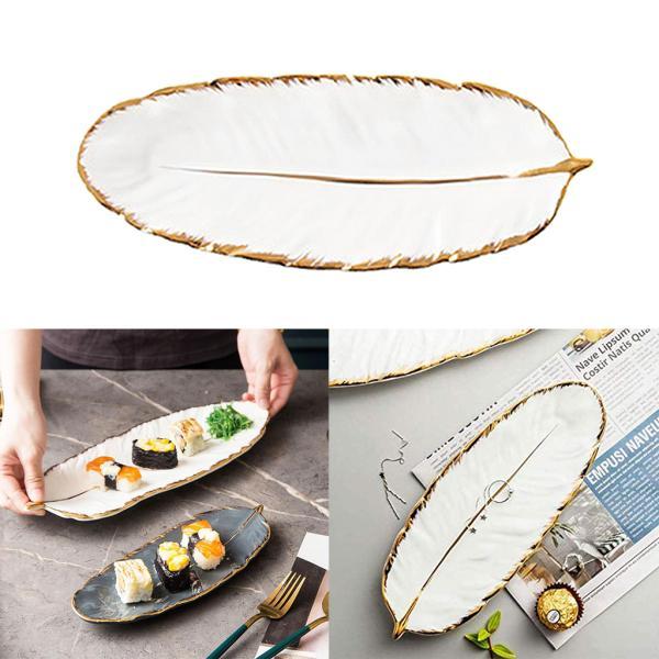 ネックレス化粧品パーティーデコレーションホワイトL用高級セラミックトレイ食器プレート
