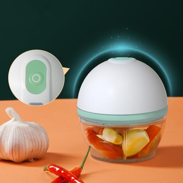 電気ニンニクチョッパーusbフードプロセッサーニンニクミンサーグラインダー小さな食品スライサー果物野菜オニオンナッツ肉唐辛子切断