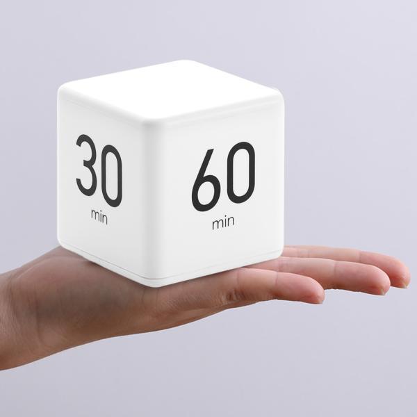 キューブタイマーデジタルタイマークッキングタイマー(LEDディスプレイ付き)15-20-30-60分