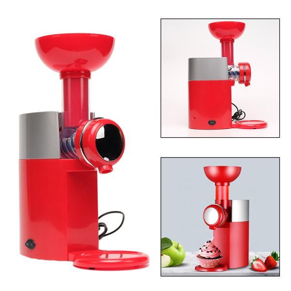 ホーム電気冷凍フルーツアイスクリームメーカーヨーグルトシャーベットマシンレッド