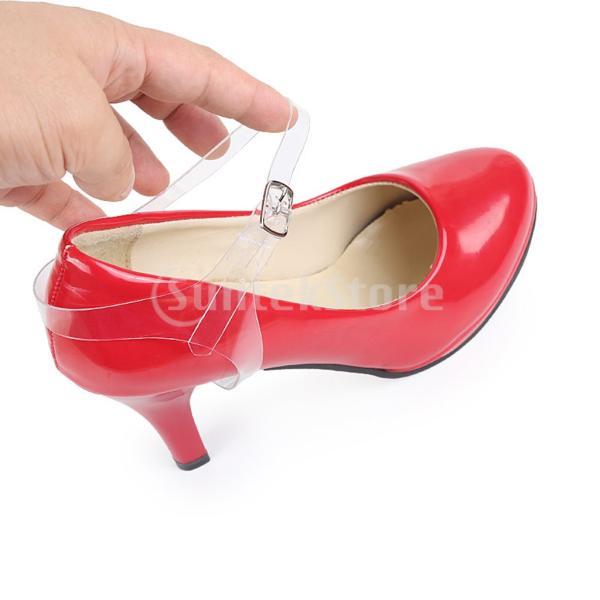 IPOTCH 靴ひも シューズストラップ 目に見えない ハイヒール 滑り落ち防止 バックル付