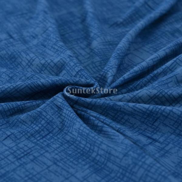 ソファーカバー 肘付き ストレッチ 洗濯可能 取り付け簡単 防汚防塵 通気性 全5色2サイズ1枚入り - ブルー, 3人掛け|stk-shop|02