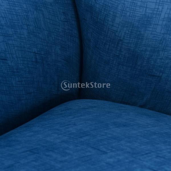 ソファーカバー 肘付き ストレッチ 洗濯可能 取り付け簡単 防汚防塵 通気性 全5色2サイズ1枚入り - ブルー, 3人掛け|stk-shop|04