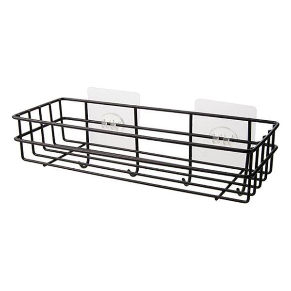ブラック キッチンバスルームシャワー棚 キッチンバスルームハンギングシェルフ鉄長方形