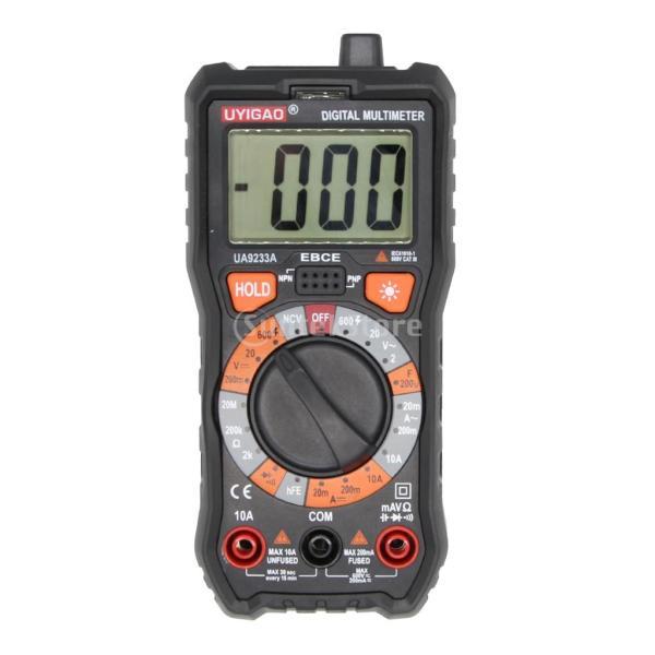 高品質 デジタルマルチメーター AC DC電圧電流計 抵抗 hFE NCV測定 最大表示:1999