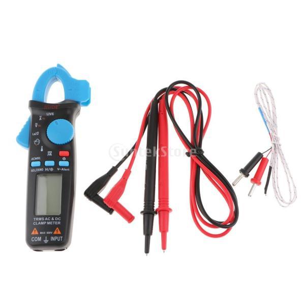クランプメーターAC/DC電圧電流計デジタルマルチメーター真のRMSオートパワーオフ