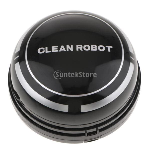 ミニ 卓上掃除機 乾電池式 キー 事務所 家具 ダストスイーパー 強力吸引 静音 - ブラック
