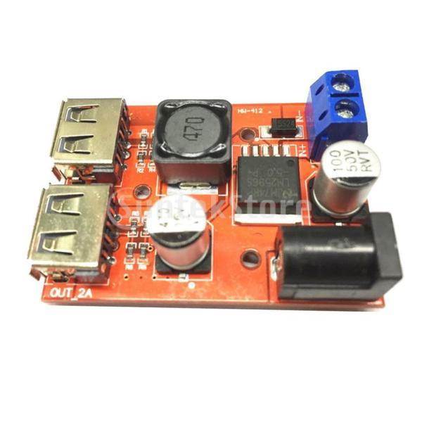 B Baosity デュアルUSB 9V/12V/24V/36V to 5V 3A DC-DC降圧コンバータ 車用 充電器 電源モジュール ソーラー|stk-shop