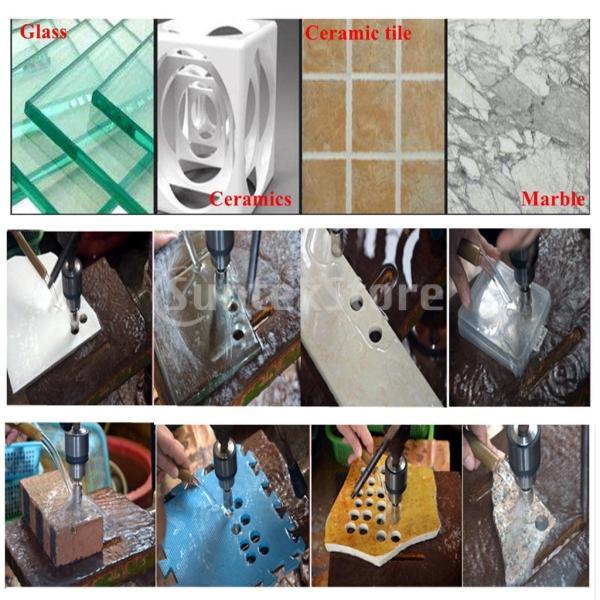 ダイヤモンドビットセット 20本 ホールソー 穴あけ カッター 大理石 花崗岩 切削作業 DIYツール stk-shop 08