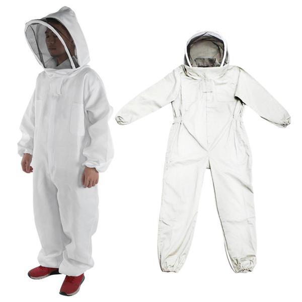 養蜂家蜂維持スーツジャケット安全ベール帽子ボディ機器フード2XL