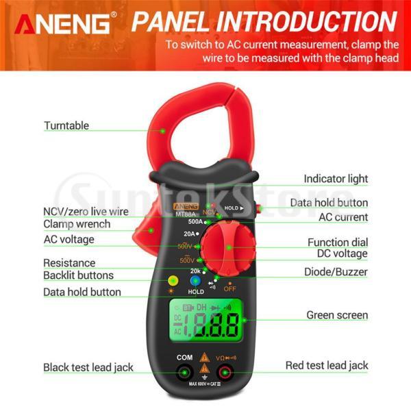 デジタルマルチメータアンプ電圧クランプメータ電圧テスター抵抗試験.赤