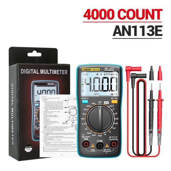 デジタルマルチメータ電流抵抗??ACDC0-600Vボルト回路テスターブルー