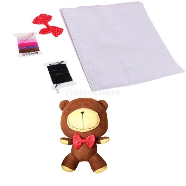 縫製工芸キット DIY ぬいぐるみ 芸術品 工芸品 チョコレートクマ 初心者 ベア人形|stk-shop|15