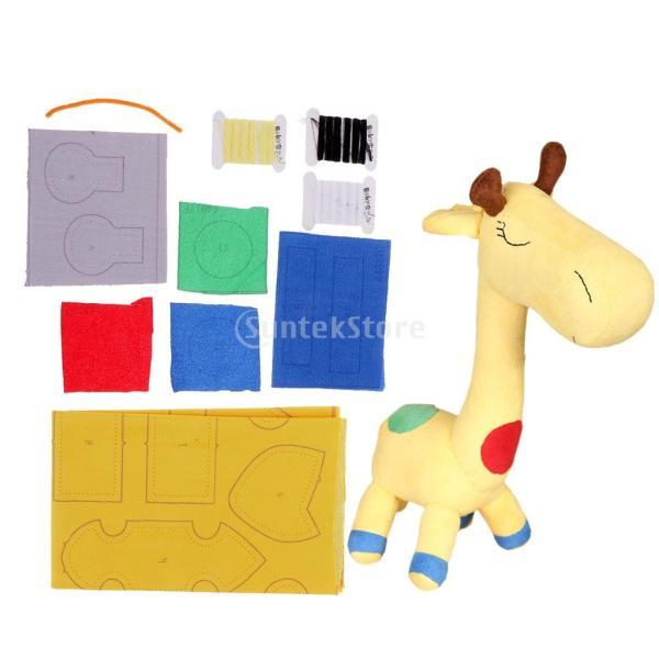 縫製工芸キット DIY ドール作り ぬいぐるみ 芸術品 工芸品 初心者 可愛い キリン人形|stk-shop|02