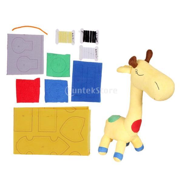 縫製工芸キット DIY ドール作り ぬいぐるみ 芸術品 工芸品 初心者 可愛い キリン人形|stk-shop|13