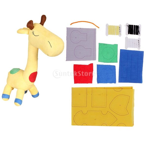 縫製工芸キット DIY ドール作り ぬいぐるみ 芸術品 工芸品 初心者 可愛い キリン人形|stk-shop|15