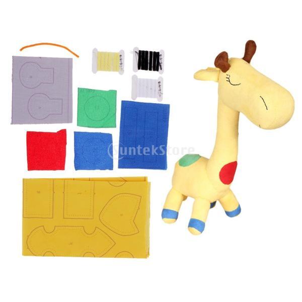 縫製工芸キット DIY ドール作り ぬいぐるみ 芸術品 工芸品 初心者 可愛い キリン人形|stk-shop|03