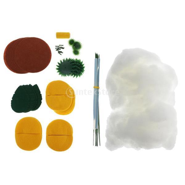フェルト 不織布 鉢植え ひまわりキット クラフト 縫製 DIY 手作り 工芸 黄|stk-shop|03