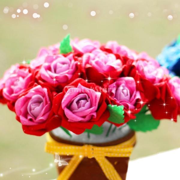 手作りキットセット 縫製スターターセット フェルト 不織布 DIY 可愛い ローズ 花 stk-shop