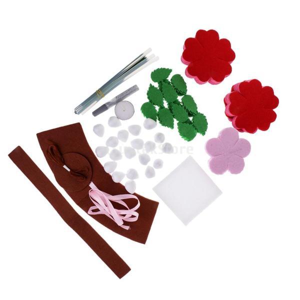 手作りキットセット 縫製スターターセット フェルト 不織布 DIY 可愛い ローズ 花 stk-shop 07