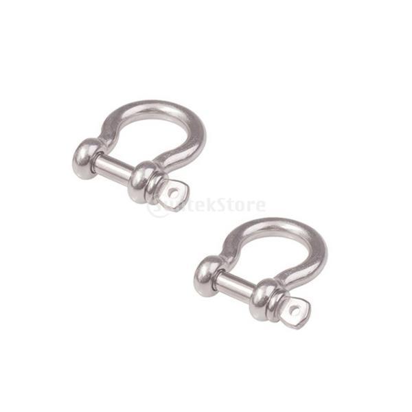 シャックル バックル 蹄鉄形状 ステンレススチール 荷物/バッグチェーン シルバー 全3サイズ - 10mm|stk-shop|03
