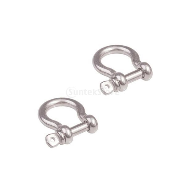 シャックル バックル 蹄鉄形状 ステンレススチール 荷物/バッグチェーン シルバー 全3サイズ - 10mm|stk-shop|05