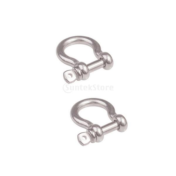 シャックル バックル 蹄鉄形状 ステンレススチール 荷物/バッグチェーン シルバー 全3サイズ - 10mm|stk-shop|07