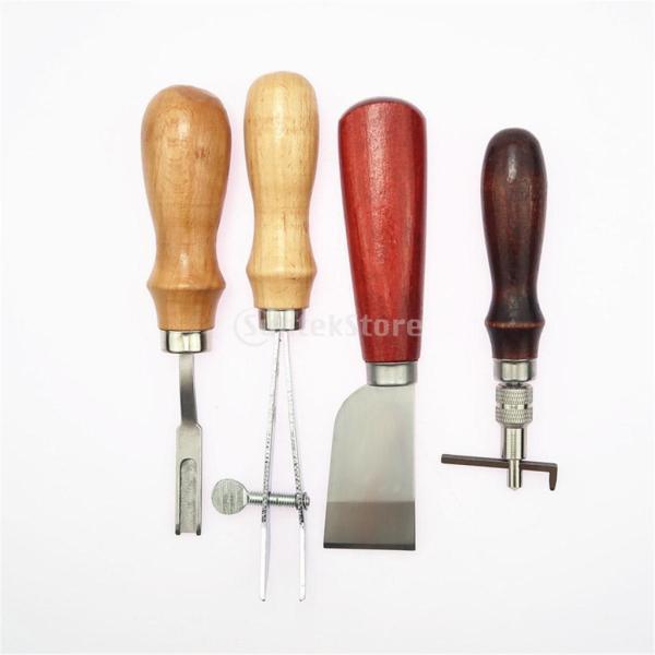 レザークラフト 革ツールキット 菱目打ち 革磨き 革細工 DIY道具 19個/セット|stk-shop|07