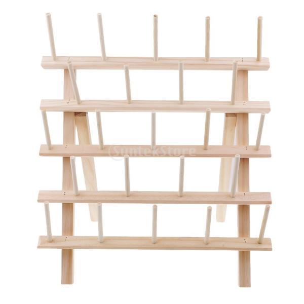 糸巻きラック 糸立て 糸収納 ミシン糸 木製ホルダー 23本収納でき 折り畳み式