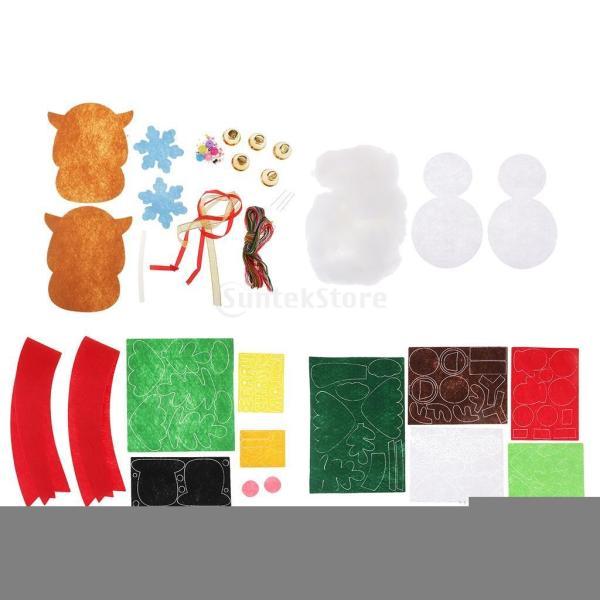 クリスマスのパターン フェルトクラフト フェルトアップリケキット DIY 不織布|stk-shop|02