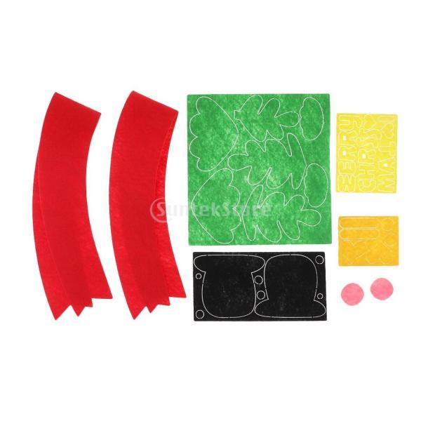 クリスマスのパターン フェルトクラフト フェルトアップリケキット DIY 不織布|stk-shop|05