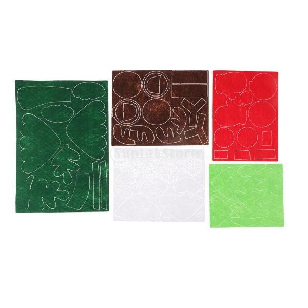 クリスマスのパターン フェルトクラフト フェルトアップリケキット DIY 不織布|stk-shop|06