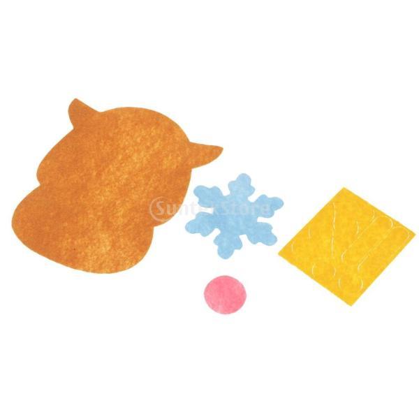 クリスマスのパターン フェルトクラフト フェルトアップリケキット DIY 不織布|stk-shop|07