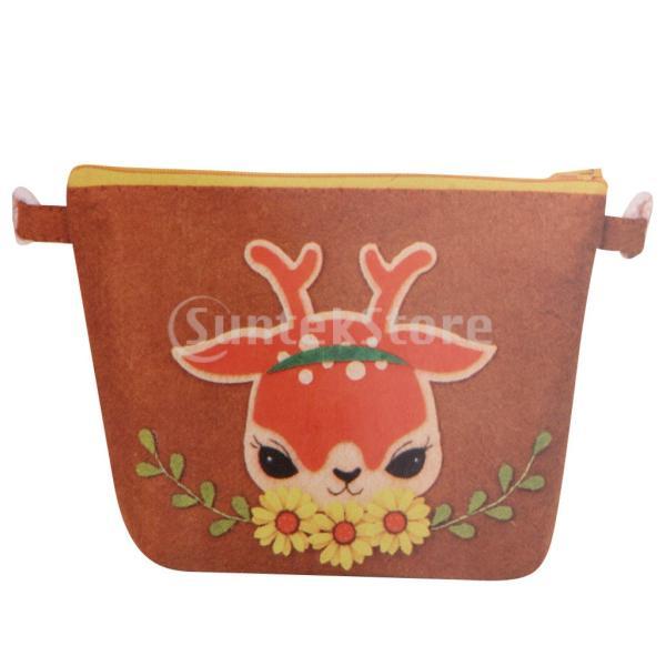 DIY不織フェルトアップリケ飾りキット手作りコインバッグ財布 - 鹿|stk-shop|03