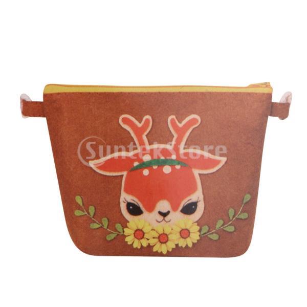 DIY不織フェルトアップリケ飾りキット手作りコインバッグ財布 - 鹿|stk-shop|05