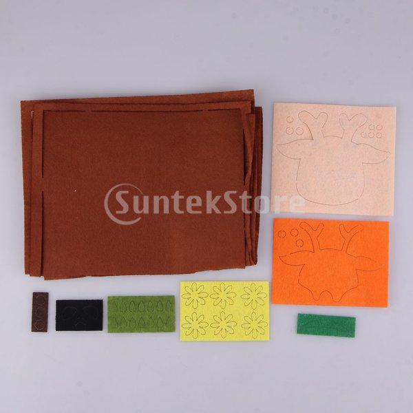 DIY不織フェルトアップリケ飾りキット手作りコインバッグ財布 - 鹿|stk-shop|07