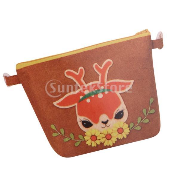 DIY不織フェルトアップリケ飾りキット手作りコインバッグ財布 - 鹿|stk-shop|08