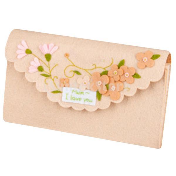 女の子の子供のための手作りの不織布小銭入れ財布フェルトアップリケキット|stk-shop|02