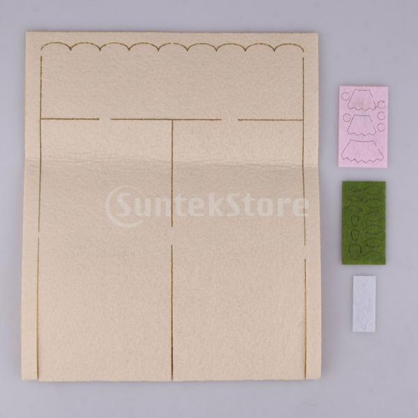 女の子の子供のための手作りの不織布小銭入れ財布フェルトアップリケキット|stk-shop|03