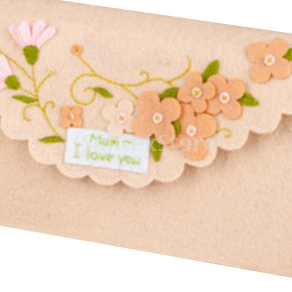 女の子の子供のための手作りの不織布小銭入れ財布フェルトアップリケキット|stk-shop|04