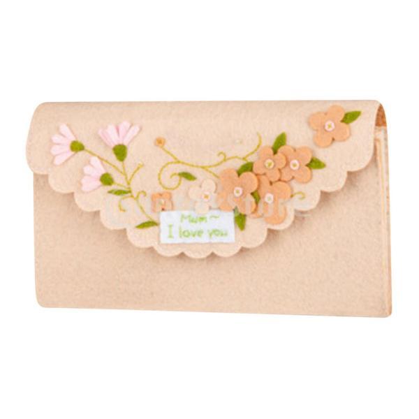 女の子の子供のための手作りの不織布小銭入れ財布フェルトアップリケキット|stk-shop|06