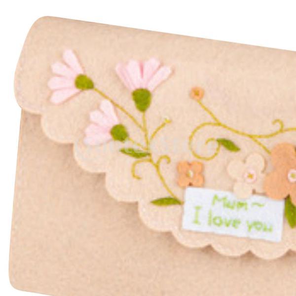 女の子の子供のための手作りの不織布小銭入れ財布フェルトアップリケキット|stk-shop|07