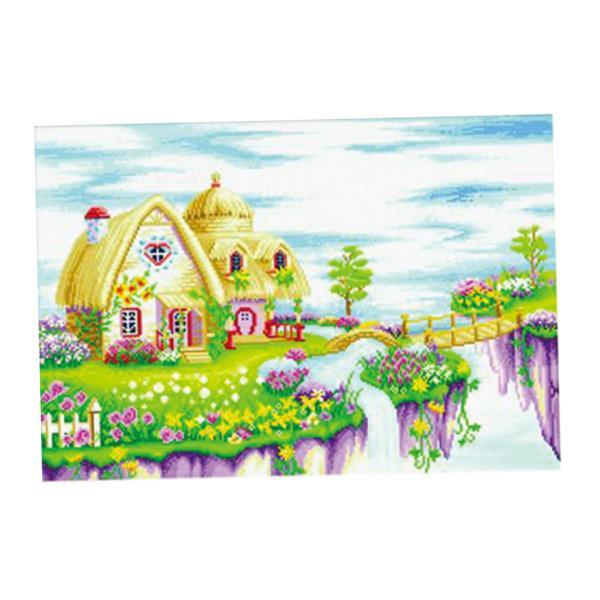 クロスステッチ刺繍キット 図柄印刷 11CT 風景パターン インテリア 66 x 48cm