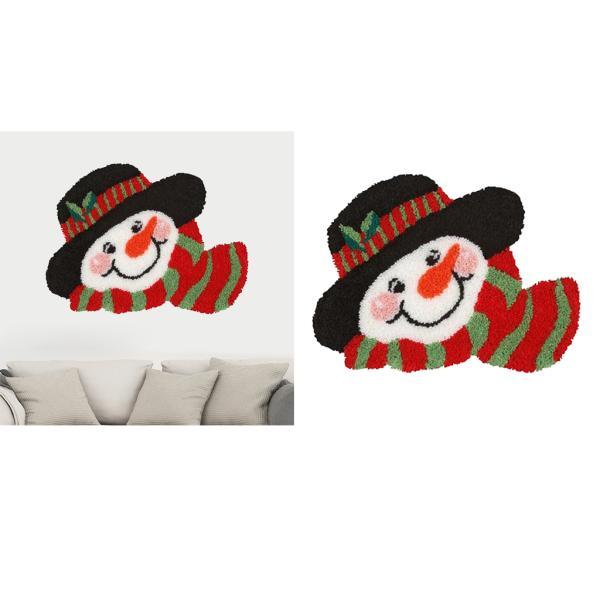02 ラッチフックラグキット 大人の初心者のためのラッチフックキットクリスマス