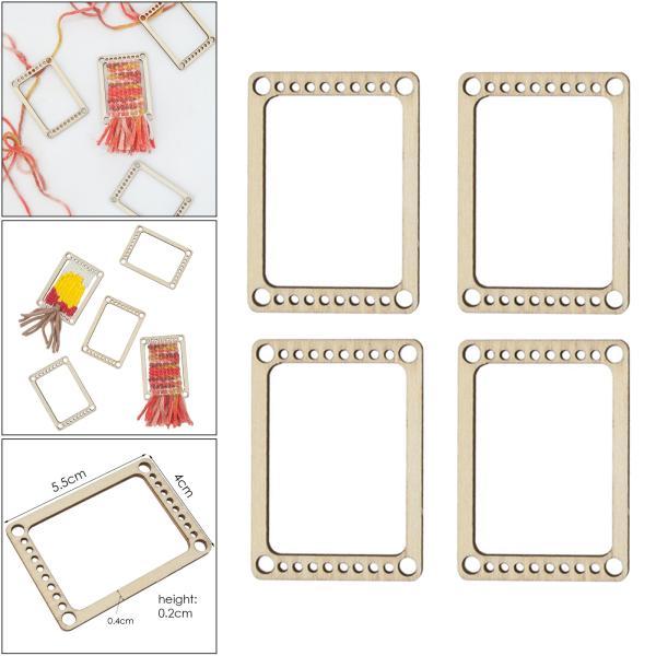 小さなウィービング織機ツール長方形織りフレーム初心者スターターニットコースタークラフトニット機手織りアクセサリー