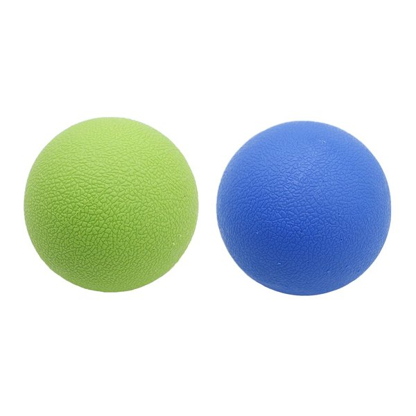 e459bff8bbb59 2個 マッサージボール ラクロスボール 背部 トリガ ポイント マッサージ 多色選べる - ブルーグリーン