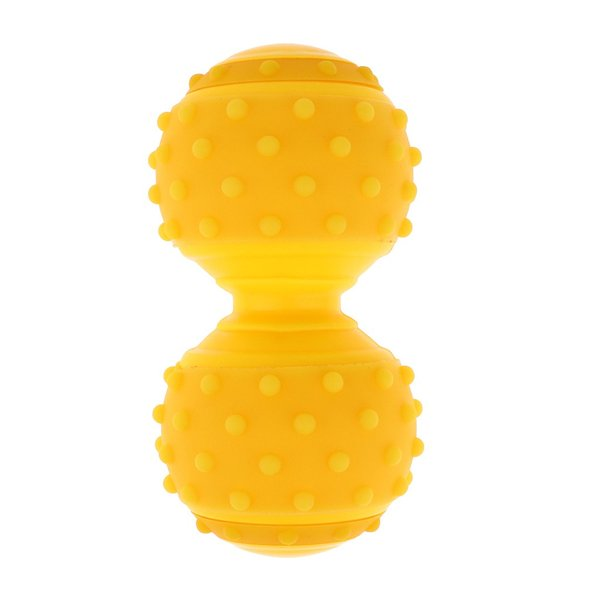 f9c87ce1af3f9 ダブルラクロスボール マッサージボール シリコン製 便利 4色選べる - 黄の画像