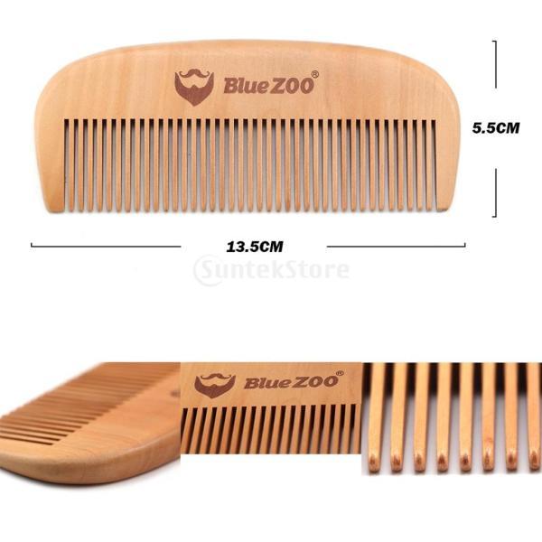 2個 ヘアコーム コーム 櫛 木製櫛 ヘアスタイリング用 静電気防止 高品質|stk-shop|03