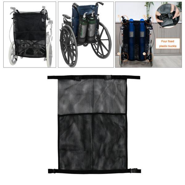 車椅子酸素ボンベバッグ滑り止めデュアル酸素ボンベホルダー反射ストライプ車椅子バックル収納ポーチユニバーサル